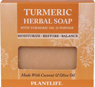 3 PACK of Plantlife Turmeric Herbal Soap with Turmeric Oil and Powder -- 4.5 oz