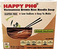 3 PACK of Star Anise Foods Happy Pho Vietnamese Brown Rice Noodle Soup Shiitake Mushroom -- 4.5 oz