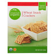 3 PACK of Simple Truth Organic Wheat Snack Crackers -- 8 oz