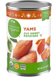 3 PACK of Simple Truth Organic Canned Yams -- 15 oz