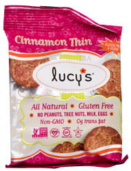 3 PACK of Lucys Gluten Free Cookies Cinnamon Thin -- 1.25 oz
