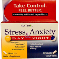 Natrol, Stress & Anxiety, Day & Nite