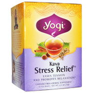3 PACK of Yogi Tea, Kava Stress Relief, Caffeine Free, 16 Tea Bags, 1.27 oz (36 g)
