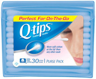 3 PACK OF Q-Tips Cotton Swab Purse Pack -- 30 Swabs Each / Pack of 36