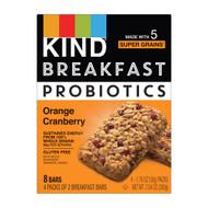 3 PACK OF Kind Breakfast Probiotics Bar Orange Cranberry -- 4 Pack