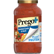 3 PACK OF Prego Plant Protein Italian Tomato Sauce Roasted Garlic and Herbs -- 24 oz