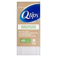 3 PACK OF Q-Tips Cotton Swabs Organic -- 400 Swabs