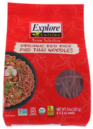 3 PACK OF Explore Cuisine Organic Red Rice Pad Thai Noodles -- 8 oz