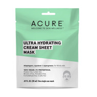 3 PACK OF Acure Ultra Hydrating Cream Sheet Mask -- 1 Mask