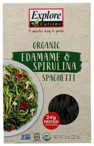 3 PACK OF Explore Cuisine Organic Edamame & Spirulina -- 8 oz