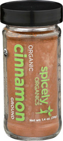 3 PACK OF Spicely Organic Cinnamon Ground -- 1.4 oz