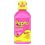 3 PACK OF Pepto-Bismol Upset Stomach Reliever-Antidiarrheal Cherry -- 16 fl oz