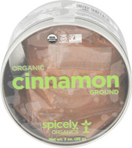 Spicely Organics Cinnamon Ground Tin -- 3 oz