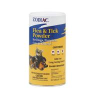 Zodiac Flea & Tick Powder for Dogs Puppies Cats & Kittens Citrus -- 6 oz