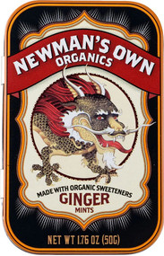 Newmans Own Organic Ginger Mints -- 6 Pack