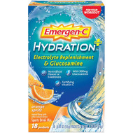 Emergen-C Hydration Plus w/Glucosamine Orange Spritz -- 18 Packets