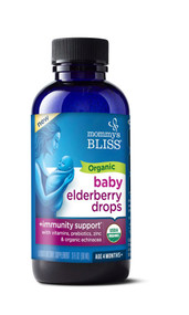 Mommys Bliss Organic Baby Elderberry Drops with Immunity Boost -- 3 fl oz