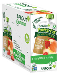 Sprout Organic Baby Food PowerPak Apple with Superblend Apricot Strawberry Toddler -- 4 oz Each / Pack of 6