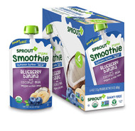 Sprout Organic Baby FoodSprout Organic Smoothie Blueberry Banana with Coconut Milk Veggies & Flax Seed
