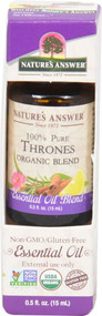 Natures Answer 100% Pure Organic Essential Oil Blend Thrones -- 0.5 fl oz