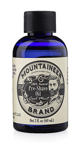 Mountaineer Brand Pre-Shave Oil Cool Mint -- 2 fl oz