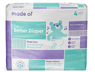 MADE OF Disposable Baby Diapers - Size 4 -- 28 Diapers