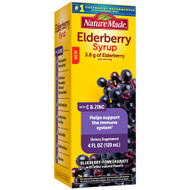 Nature Made Elderberry Syrup Blueberry Pomegranate -- 3.8 g - 4 fl oz