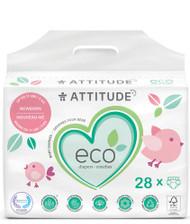 Attitude Baby Diapers Newborn -- 28 Diapers