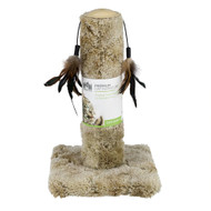 North American Pet Toy Cat Carpet Scratching Post with Feathers 17.5 Inches -- 1 Toy