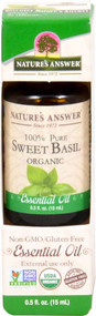 Natures Answer 100% Pure Organic Essential Oil Sweet Basil -- 0.5 fl oz