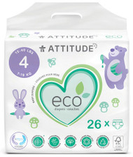 Attitude Baby Diapers Maxi Size 4 -- 26 Diapers