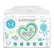 Attitude Baby Diapers Mini Size 1-2 -- 36 Diapers