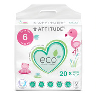 Attitude Baby Diapers XL Size 6 -- 20 Diapers