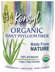 Konsyl Organic Daily Psyllium Fiber -- 12 oz