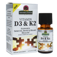 Natures Answer Vitamin D3 & K2 Drops -- 0.5 fl oz
