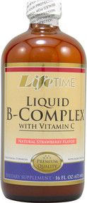 Lifetime Liquid B-Complex with Vitamin C Natural Strawberry -- 16 fl oz