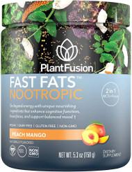 PlantFusion Fast Fats Nootropic Peach Mango -- 5.3 oz