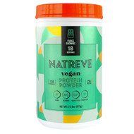 Natreve Vegan Protein Powder Fudge Brownie -- 23.8 oz