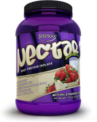 Syntrax Nectar Whey Protein Isolate Powder Naturals Natural Strawberry Cream -- 2 lbs