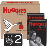 Huggies Special Delivery Baby Diapers Hypoallergenic Size 2 Economy Plus Pack -- 132 Diapers
