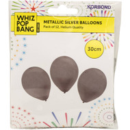 3 PACK OF Korbond Silver & Gold Balloons  12 pack