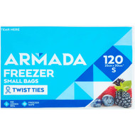 5 PACK of Armada Freezer Bags Small 120 pack