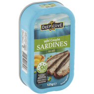 5 PACK of Deep Cove Sardines In Oil 125g