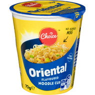 5 PACK of Choice Oriental Noodle Cup 70g