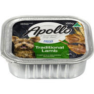 5 PACK of Apollo Dog Food Traditional Lamb 100g