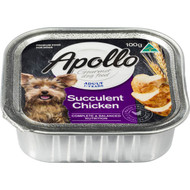 5 PACK of Apollo Dog Food Succulent Chicken 100g