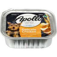 5 PACK of Apollo Dog Food Puppy Delicate Chicken 100g
