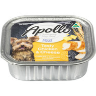 5 PACK of Apollo Adult Dog Food Tasty Chicken & Cheese 100g