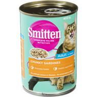 5 PACK of Smitten Cat Food Chunky Sardines 400g