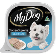 5 PACK of My Dog Chicken Supreme Loaf Classics Wet Dog Food Tray 100g